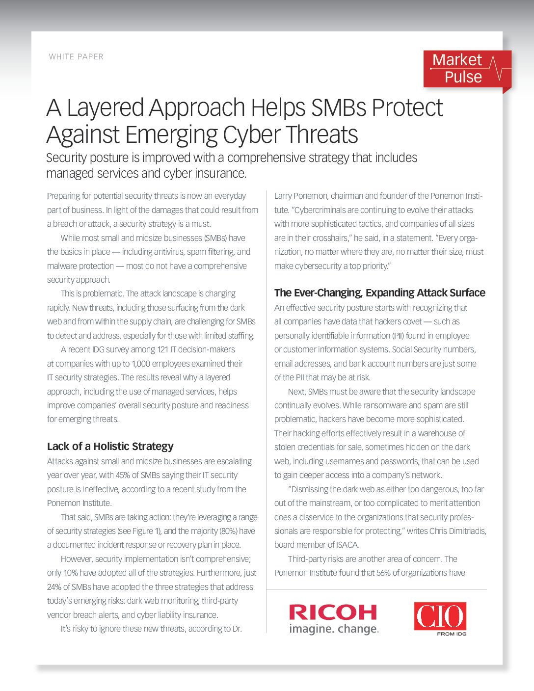 A Layered Approach Helps SMBs Protect Against Emerging Cyber Threats
